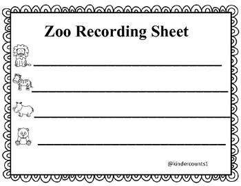 Zoo Theme Pocket Chart Activity