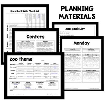 Zoo Theme Preschool Lesson Plans