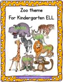 Zoo Theme for Preschool English Language Learners