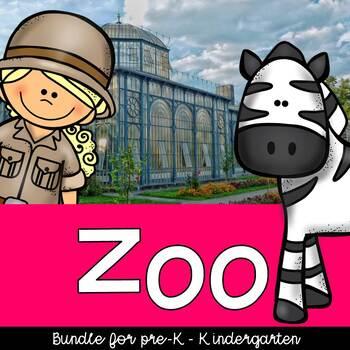 Zoo Theme for preschool and kindergarten, centers and activities