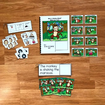 "Zoo Sentence Builder Book:  ""What Is Monkey Doing?"""