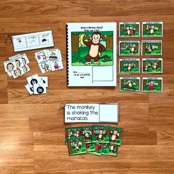 """Zoo Sentence Builder Book:  """"What Is Monkey Doing?"""""""