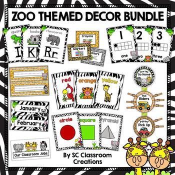 Zoo Themed Classroom Decor Bundle