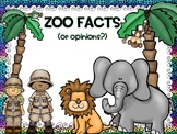 Zoo Themed Fact and Opinion Unit