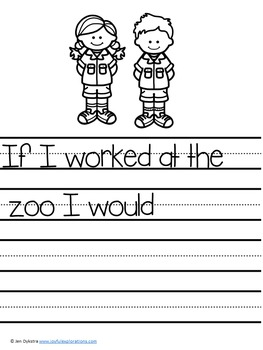 Zoo Themed Journal Prompts and Story Starters