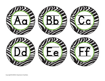 Zoo Themed Labels and Signs-Classroom Decor