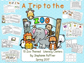 Zoo Themed Literacy Centers - 10 Literacy Centers