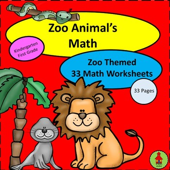 Zoo Themed Math Worksheets Packet