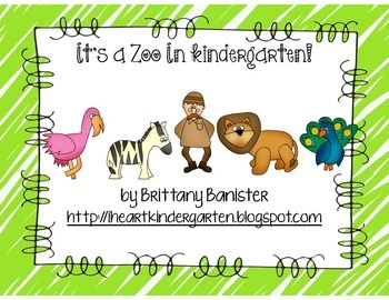 Zoo Themed Math and Literacy Stations