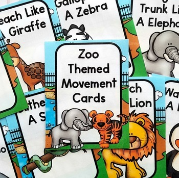 Zoo Themed Movement Cards
