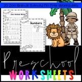 Preschool Zoo Worksheets