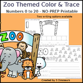 Zoo Themed Number Color and Trace
