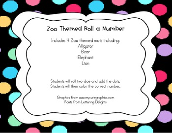 Zoo Themed Roll A Number