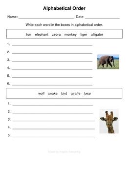 Zoo Themed Spelling Practice