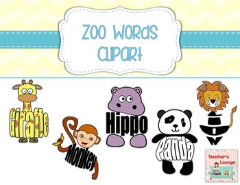 Zoo Themed Word Clipart