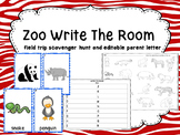 Zoo Write The Room  - with zoo field trip scavenger hunt