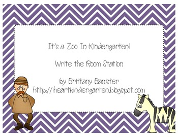 Zoo Themed Write the Room Station