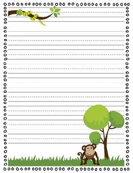 Zoo Themed Writing