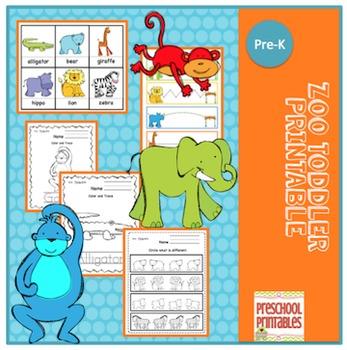 Zoo Toddler Printable