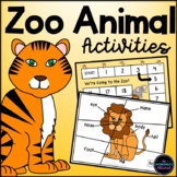 Zoo Animal Activities, Games & Resources