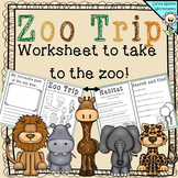 Zoo Trip - A worksheet to Take to the Zoo