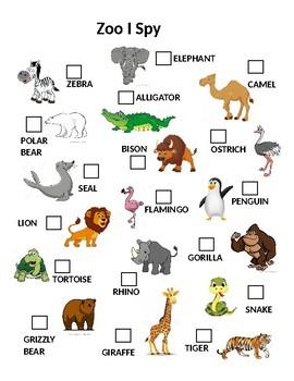 Zoo Trip Packet