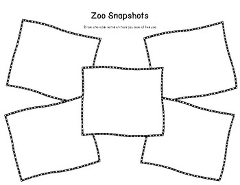 Zoo Trip Snapshots: 2 Writing Pages for Zoo Field Trip Memories