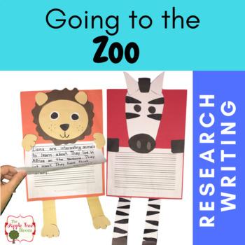 Zoo Unit {CCSS Research, Writing} Kindergarten - 3rd  Grade