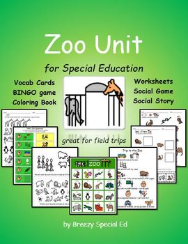 Zoo Unit for Field Trips {Special Education}