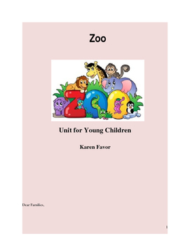 Zoo Unit for Young Children