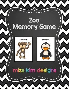 Zoo Memory Game