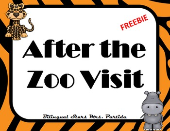 Zoo Visit  Animals Opinion writing English   Freebie