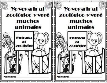 Zoo Visit  Animals Opinion writing Spanish Mi visita al zoológico   Freebie