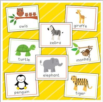 Zoo Vocabulary Cards for Preschool and Kindergarten