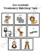 Zoo Vocabulary Matching Folder Game for Early Childhood Special Education