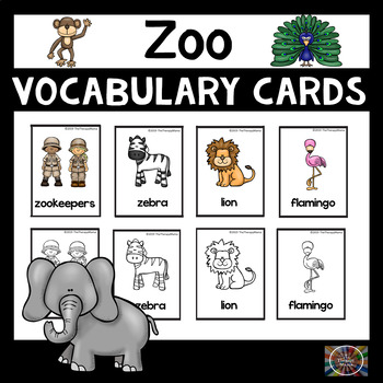 Zoo Vocabulary Picture Cards