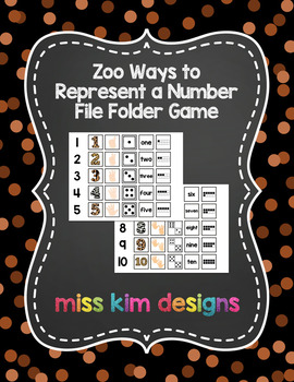 Zoo Ways to Represent A Number File Folder Game