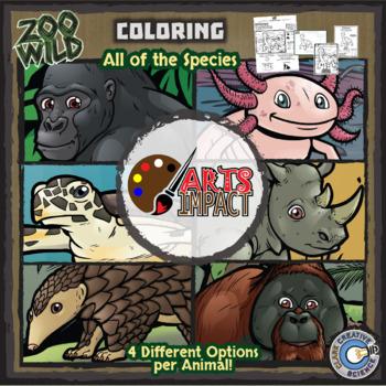 Zoo Wild -- Wildlife Activity Sheet eBook -- Volume 1