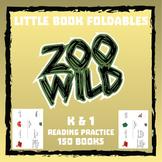 Zoo Wild Little Books (Foldables) -- 150 Books -- Homeschool or Elementary Fun