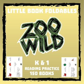 Zoo Wild Little Books (Foldables) -- 150 Books -- Homeschool or Elementary Fun