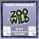 Zoo Wild Reading Practice -- 144 Paragraphs -- Homeschool or Elementary Fun