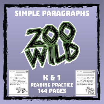 Zoo Wild Reading Practice -- 144 Paragraphs -- Homeschool or Elementary Fun