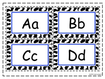 Zoo Word Wall Letters Blue