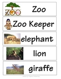 Zoo Words for Word Wall