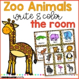 Zoo Write & Color the Room
