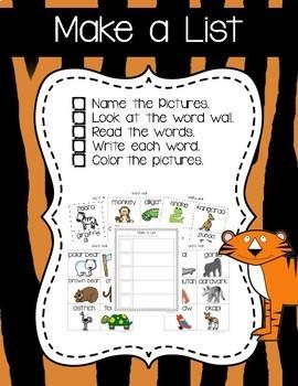 Zoo Writing Activities