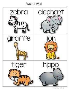 Zoo Theme Independent Writing Practice