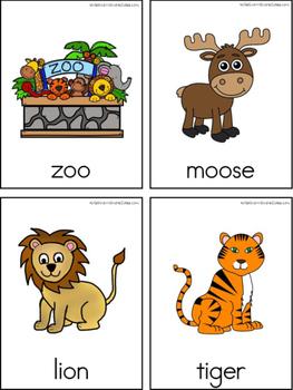 Zoo Writing Center Tools: Animal Words