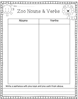 Zoo Writing & Literacy Activities and Printables