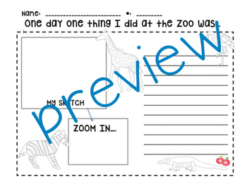 Zoo Writing - Zoo Field Trip